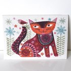 NANCY NICHOLSON STITCH KIT - CAT BROWN