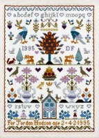 THE BIRTHDAY SAMPLER - Moira Blackburn Traditional Sampler Charts