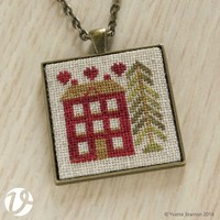 RED HOUSE PENDANT KIT - Vetty Creations