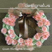 GUM BLOSSOM WREATH - Designatus Designs