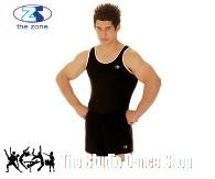 Sleeveless, black Gymnastic Leotard 44