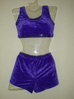 Velour shorts purple