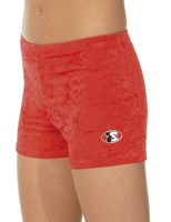 Crushed velour shorts red only