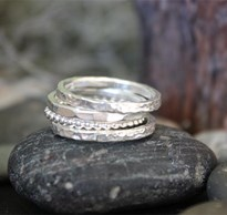 Mixed textured ring stack
