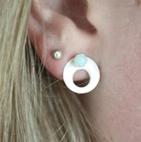 Two-way Gem earring