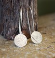 Leaf Etched earring