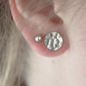 Large Etched textured Stud - 10mm
