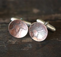 Snake textured etched cufflinks
