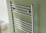 Space Bow Chrome Towel Radiator by MHS Electric Only - Thermostatic POL1