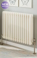 The Radiator Company Ancona 3 Column Radiator with Slip on Welded Feet in White