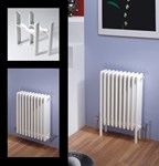 Multisec 4 Column 592mm Height Classic White Multi Column By MHS Radiators
