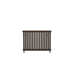 Bisque Tetro Floor Mount Aluminium Radiator with a Marron Finish