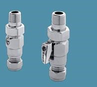 Bisque Straight Manual Valve Set A in Chrome