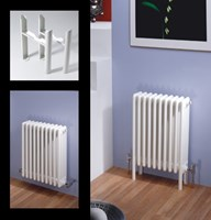 Multisec 3 Column 492mm Height Classic White Multi Column By MHS Radiators