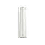 Bisque Tetro 148/178 Vertical Aluminium Radiator in White