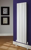 The Radiator Company Tornado Double Designer Vertical Radiator in White