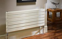 The Radiator Company Picchio Single Horizontal Designer Radiator in White