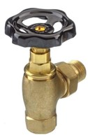 The Radiator Company Traditional Black and Brass Radiator Valve