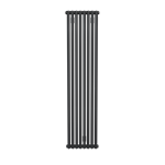 Bisque Tetro 148/178 Vertical Aluminium Radiator with a Volcanic Finish