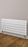 Cheshire Radiators Bretton Single Horizontal Flat Tube Steel Radiator in white