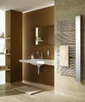 The Credo-Half designer ladder style towel radiator by Kermi.