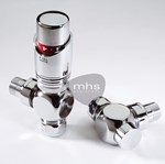 Belgravia Chrome Valves by MHS Radiators