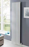 The Radiator Company Seta Groove Vertical Radiator in Colour