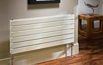 The Radiator Company Picchio Double Horizontal Designer Radiator in White