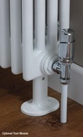 Cheshire Radiators Kingsley 3 Column Vertical Steel Radiator in white