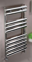 MHS Oval Brushed Or Polished Stainless Steel Towel Radiator by MHS Radiators.