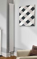 The Radiator Company Water Lily Single Vertical Designer Radiator in Colour