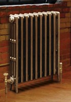 Victorian 760 - 4 Column Cast Iron Period Radiator In Antique/Highlighted By Carron Radiators at Jig
