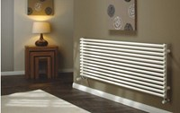 The Radiator Company TRC25 Horizontal Double Tubular Radiator in White