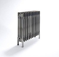Bisque Classic 2W Vertical or Horizontal Multi Column Wall Radiator with Unique Bare Metal Finish