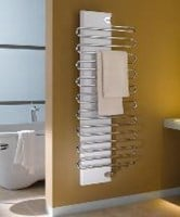 The Jive single/double layer modern towel rail by Kermi.