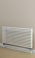 Cheshire Radiators Malpas Double Horizontal Round Tube Steel Radiator in white