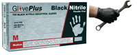 Black Nitrile Rubber Gloves - Box 100 Size Medium