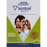 Sentinel Spectrum Dogs 9-25lbs (4-11kg) - 3 Chewables