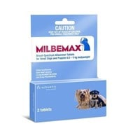 Milbemax Wormer Dogs Under 11lbs (5kg) - 2 Tablets