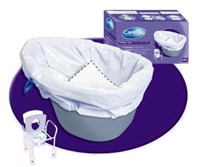 Commode Liner with Super Absorbent Pad