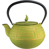 Teapot - Green Gold