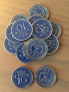 Scythe Promo Metal Coins - 15 Metal $10 Blue Coins