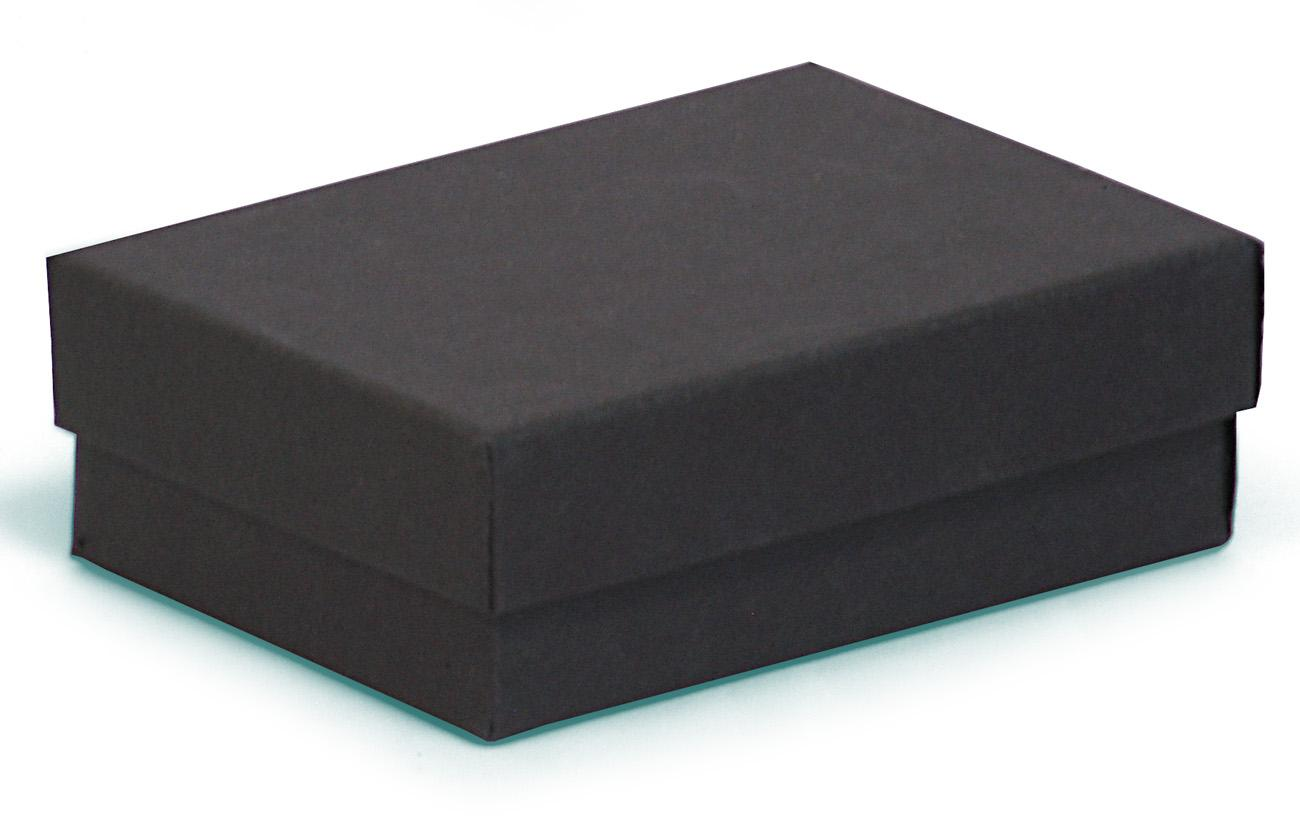 Black jewellery gift box (Small / Medium) in kraft - 77 x 52 x 25 ...