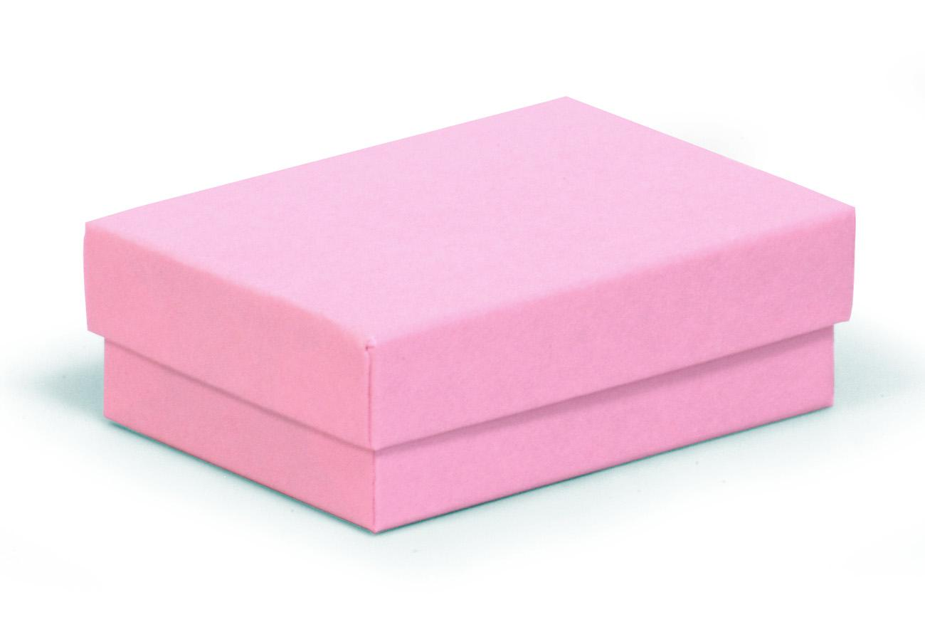 Small / Medium Recycled Kraft Pink Jewellery Box / Pink Recycled Gift Box 77 X 52 X 25mm (KCPI6