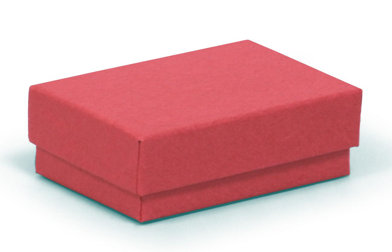 Small Multi Purpose Kraft Recycled Red Jewellery Box / Red Recycled Gift Box 62 X 42 X 21mm (KCRED4