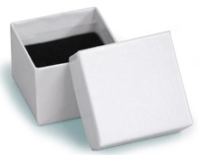 White Swirl Ring Box 40 x 40 x 31mm (400WHIT)