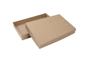 Kraft Natural 2 Piece Flat Packed Gift Box (B2AB2KR)