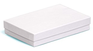 Medium / large multi purpose white swirl recycled box 138 x 89 x 25mm (CF95/14)