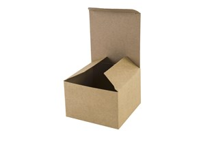 Kraft Natural Basics Range Flat Packed Gift Box - 7.5cm x 7.5 cm x 5cm (B2P01)