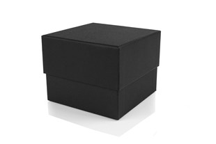 Black Luxury Square Deep Box 110x110x90mm (WPBIGB)